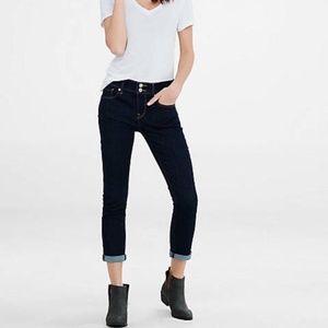 NWOT Express Stretch Performance Cropped MidRise Legging Jeans Dark Wash 00